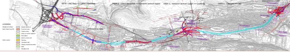 """Přehledná situace varianty """"V3"""" - podle návrhu sdružení EKO Břevnov"""
